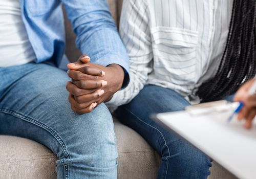Married couple in therapy.