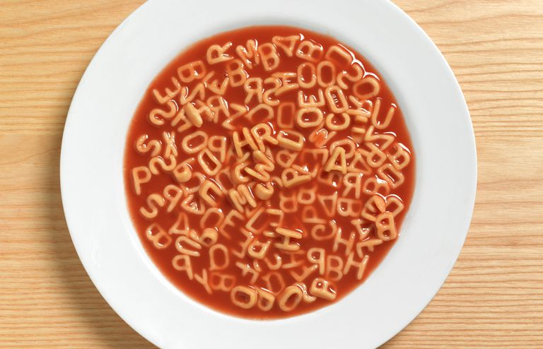 Learning can sometimes start with a bowl of alphabet soup.