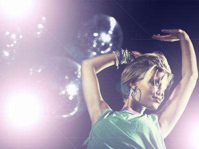 girl dancing at rave