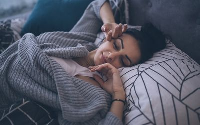 Early morning comfort - stock photo