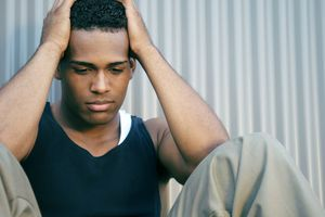 Depressed young man