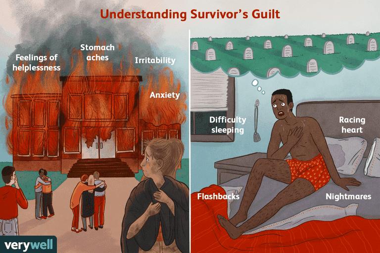 Survivor's guilt illustration