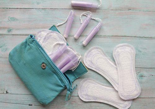 sanitary pads and tampons.