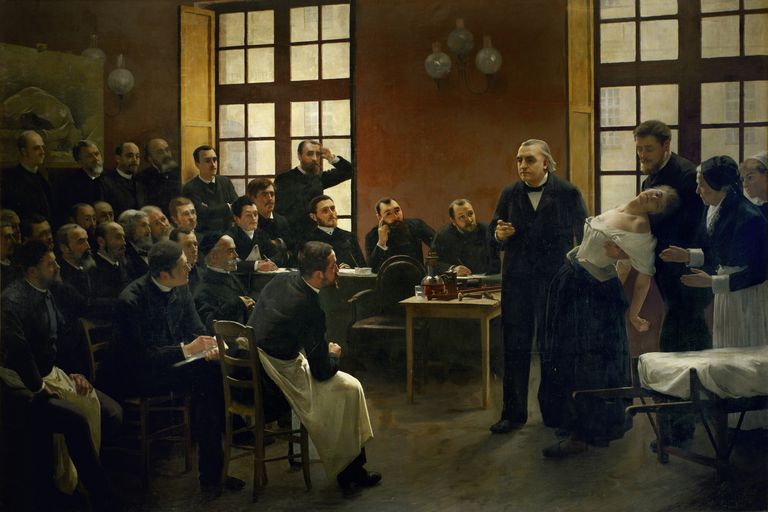 Charcot teaching on hysteria