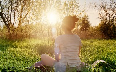 Mindfulness meditation can help relieve anxiety.