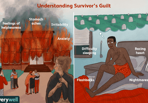 Survivor's guilt illustration