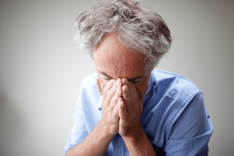 Older man with depression