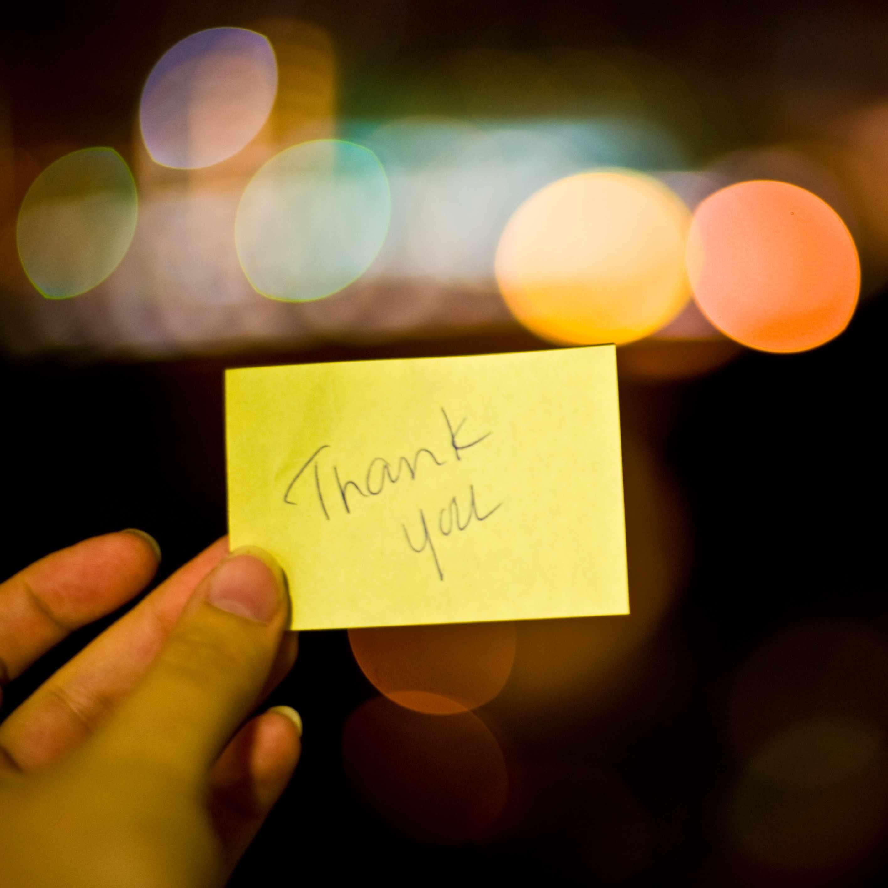 thank you party gratitude