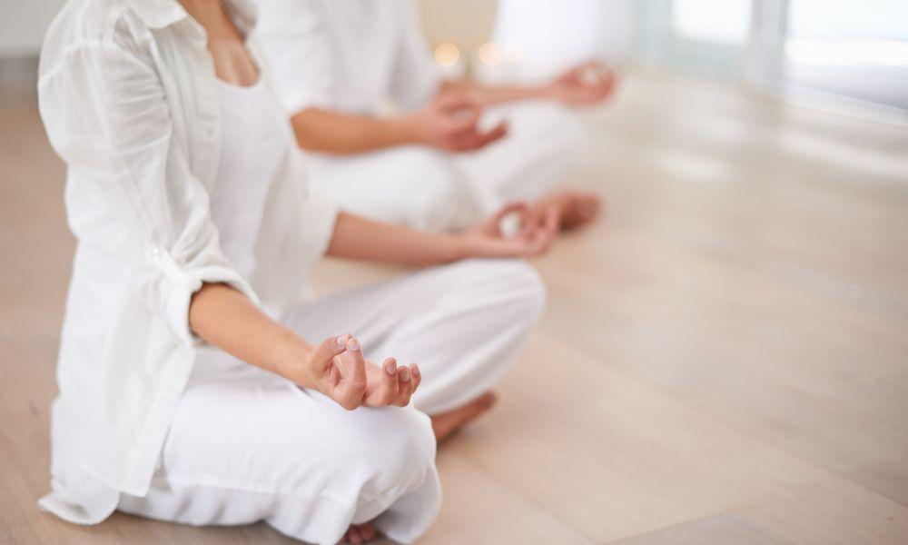 People doing kundalini meditation