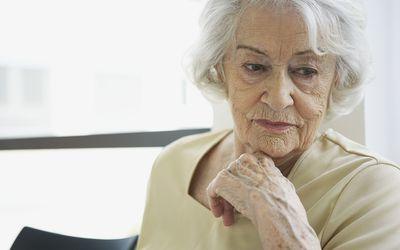 Depressed older woman