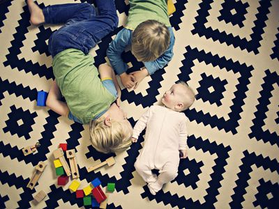 Three children playing together