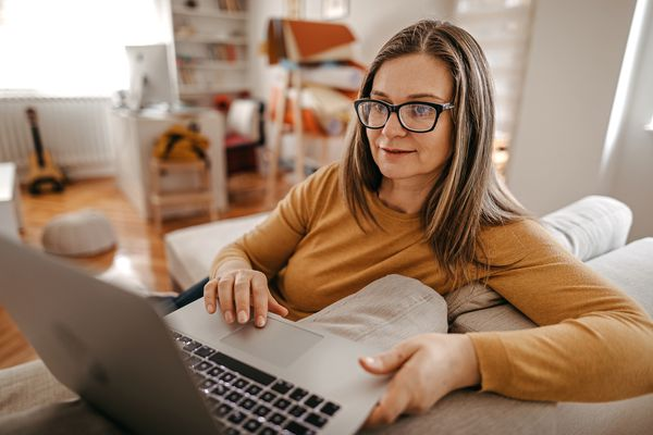 Woman getting therapy online