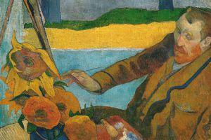 Vincent van Gogh Painting Sunflowers by Paul Gauguin