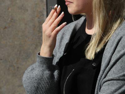 Office Worker On Cigarette Break