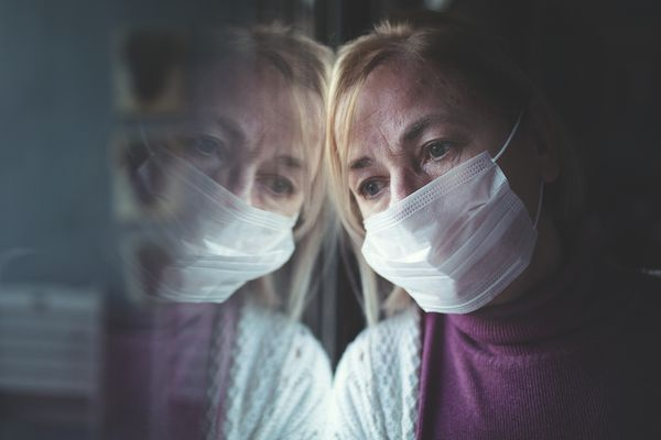 Quarantine isolation because of Coronavirus COVID-19 is affecting woman's mental health.