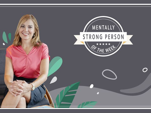 Andrea Bonior is the mentally strong person of the week.