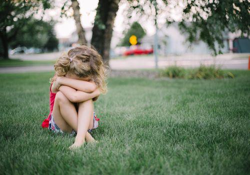 Girl Crying Outside