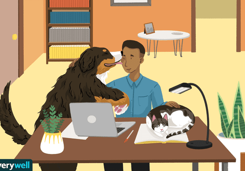 Pets help fight loneliness illo