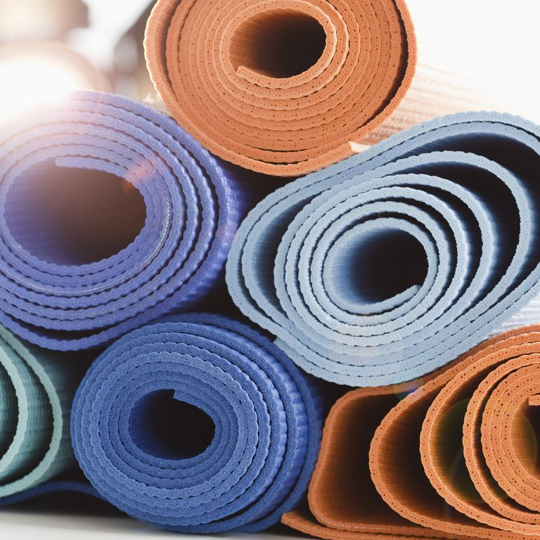 Use a yoga mat when you do yoga to reduce social anxiety.