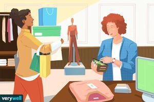 drawing of women shopping