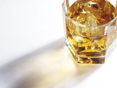 Light through a whiskey