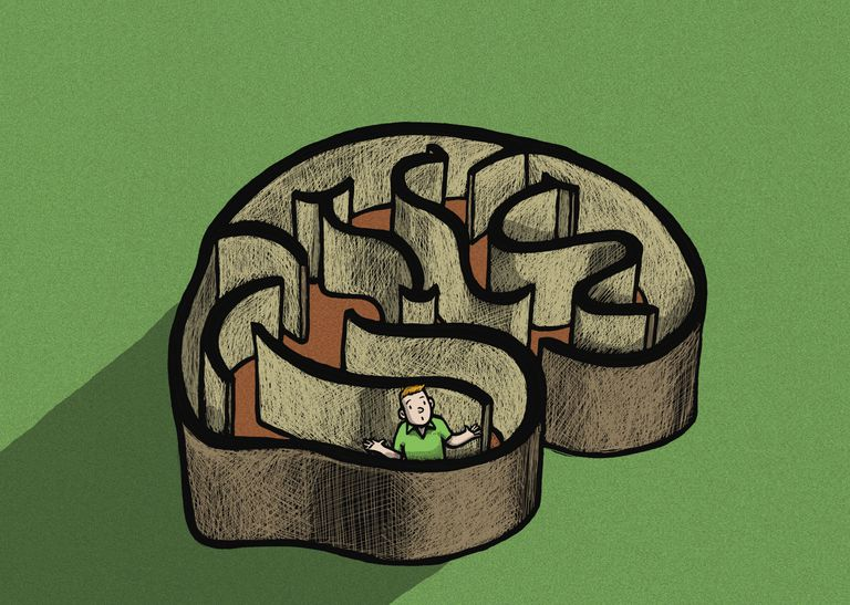 illustration of a brain maze