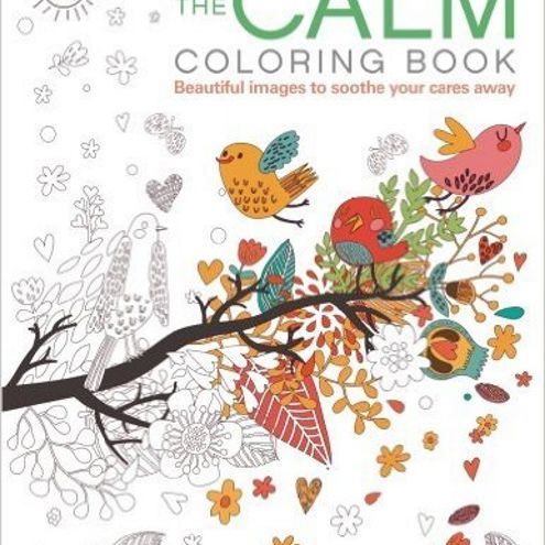 Coloring books can be used to help calm yourself.