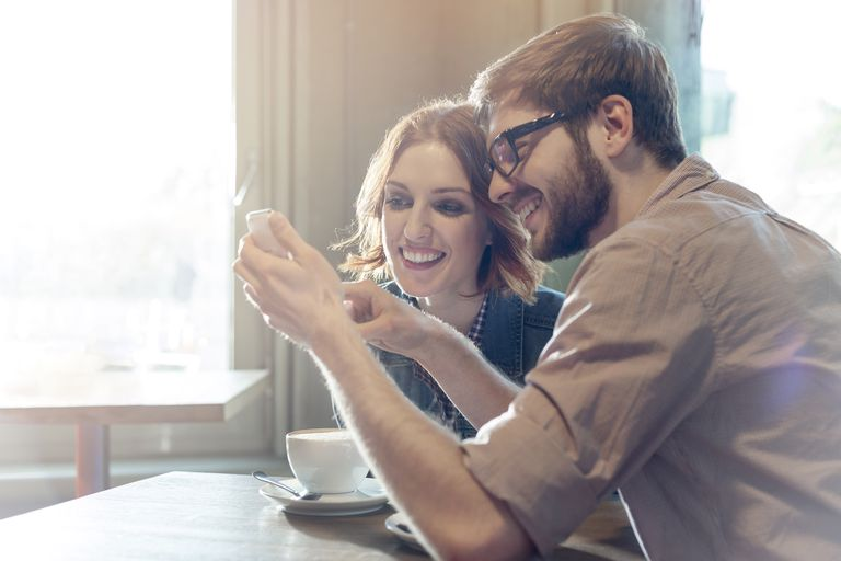 Couple using the Happy Couple app