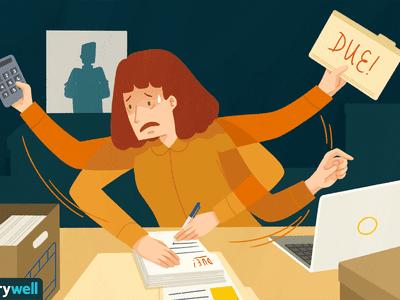 work anxiety illustration