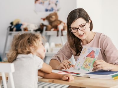 Child in cognitive behavioral play therapy