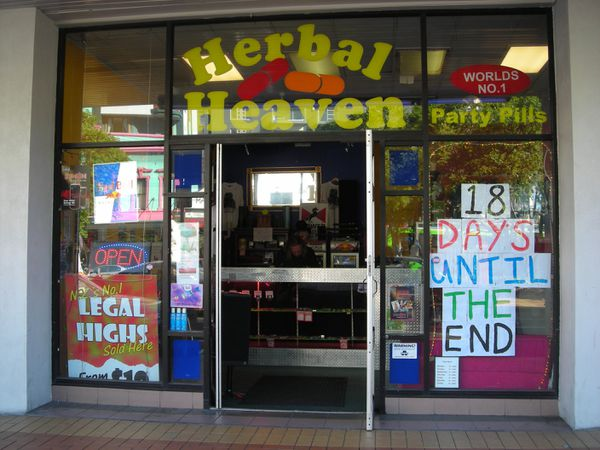 Storefront advertising final days of legal BZP