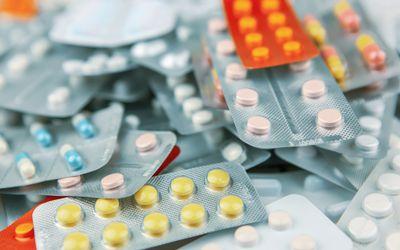 Close up of various prescription medications.