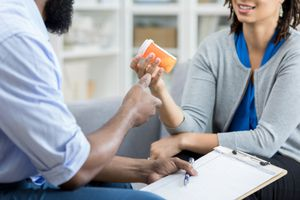 Mental health professional prescribing medication