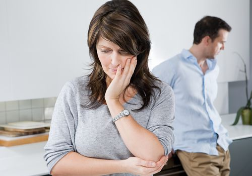Couple contemplates a trial separation.