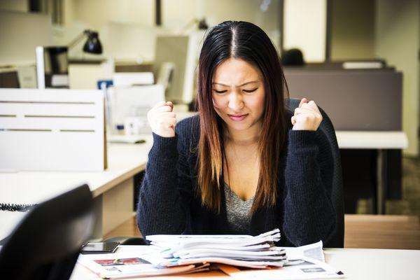 upset business woman