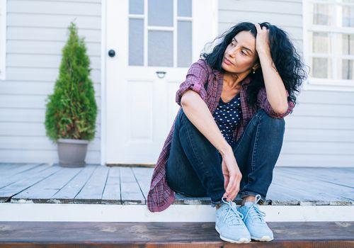 Woman postmenopause