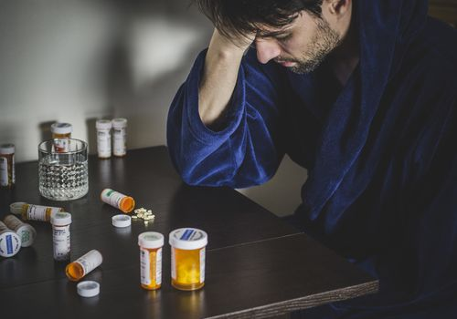 Man suffers from alcohol and opioid dependence and contemplates using Vivitrol.