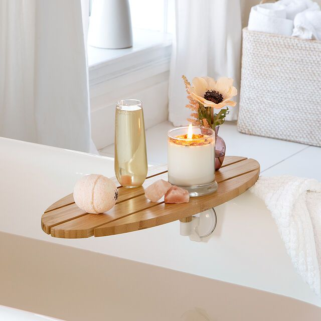 Uncommon Goods Swivel Bath Tray