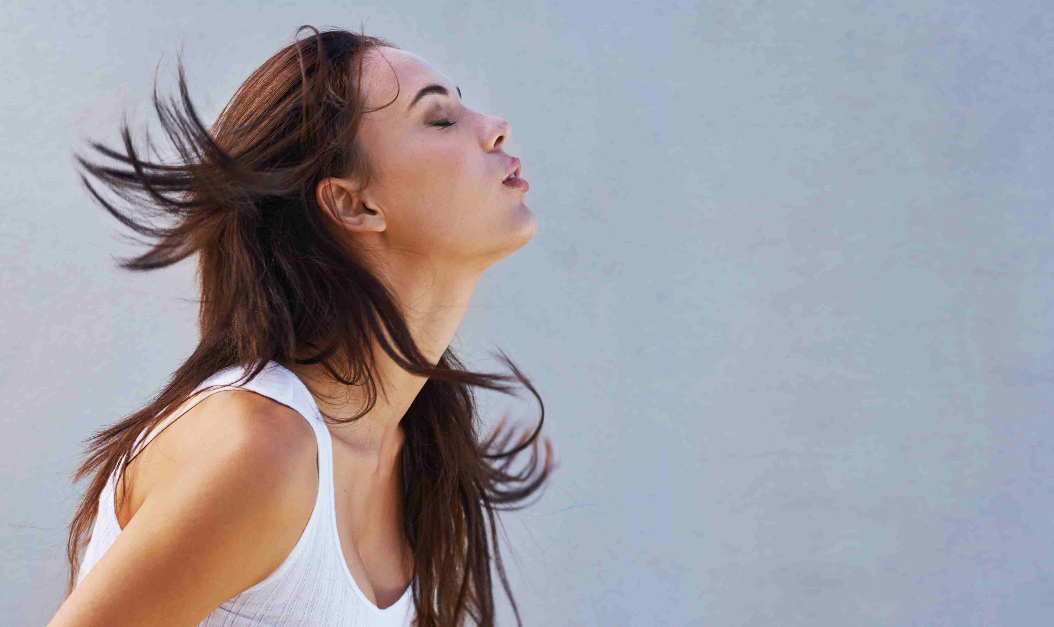 Breathing exercises can really relieve stress well, during lunch or at any other time.