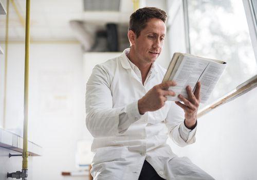 doctor reading DSM-5