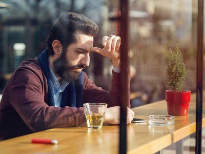 Man sitting at a bar