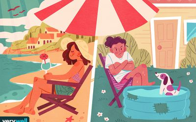 drawing of people with different summer experiences