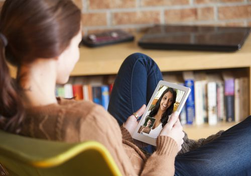You might be able to video chat with your therapist.