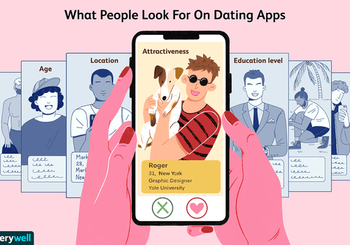 Swiping through a dating app with different factors listed on each profile