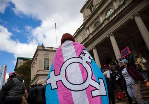 Gender identity rally.
