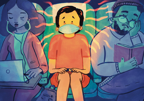 travel anxiety illustration