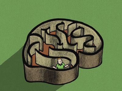 illustration of a brain maze