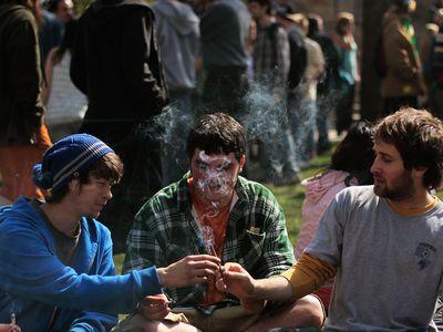 young people smoking marijuana