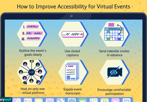 Improving accessibility for virtual events