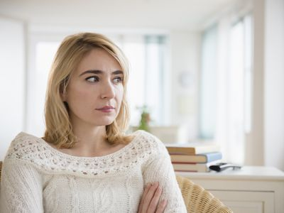 Woman looking anxious